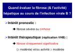 quand valuer la fibrose l activit h patique au cours de l infection virale b