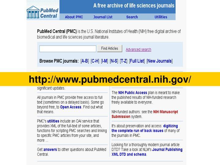 http://www.pubmedcentral.nih.gov/