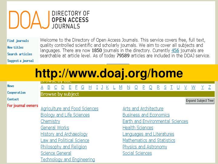 http://www.doaj.org/home