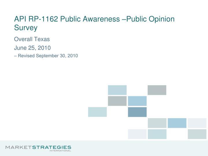 api rp 1162 public awareness public opinion survey n.