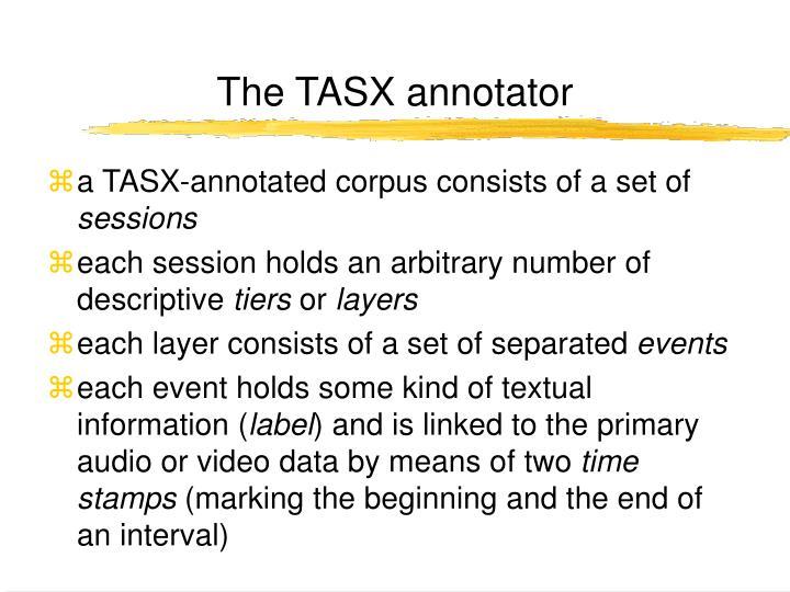The TASX annotator
