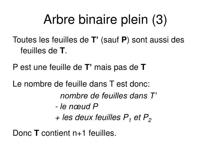 Arbre binaire plein (3)
