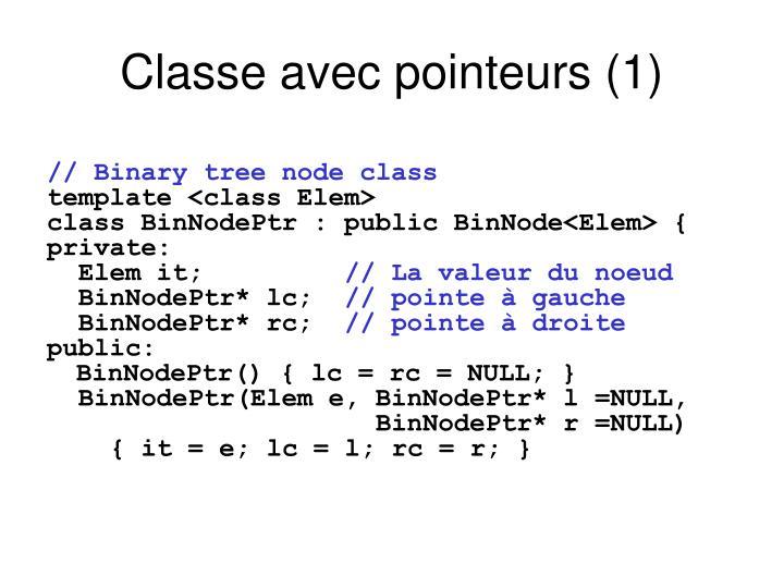 Classe avec pointeurs (1)