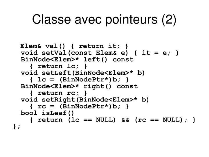 Classe avec pointeurs (2)
