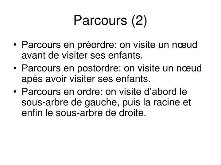 Parcours (2)