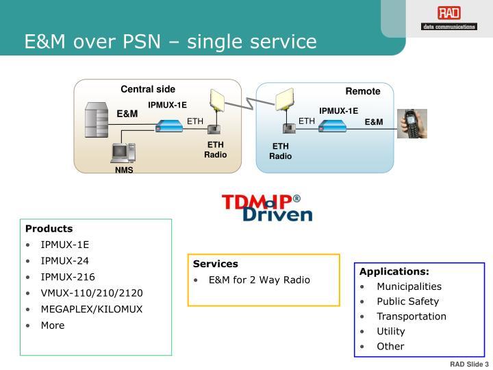 E m over psn single service