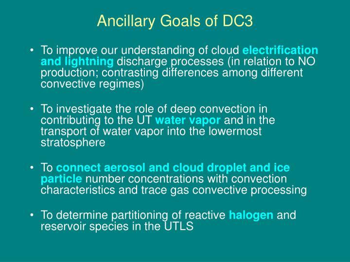 Ancillary Goals of DC3