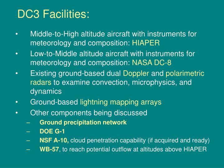 DC3 Facilities: