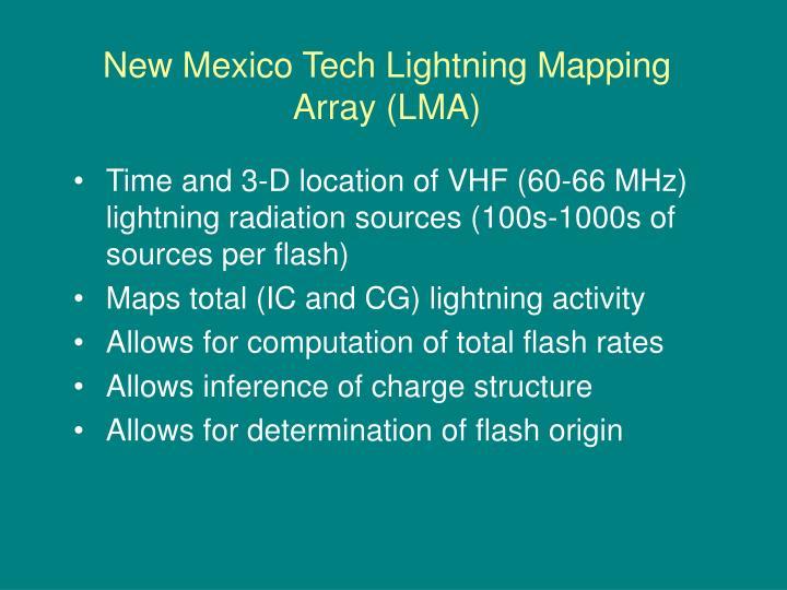 New Mexico Tech Lightning Mapping Array (LMA)