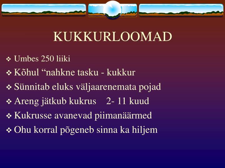 KUKKURLOOMAD