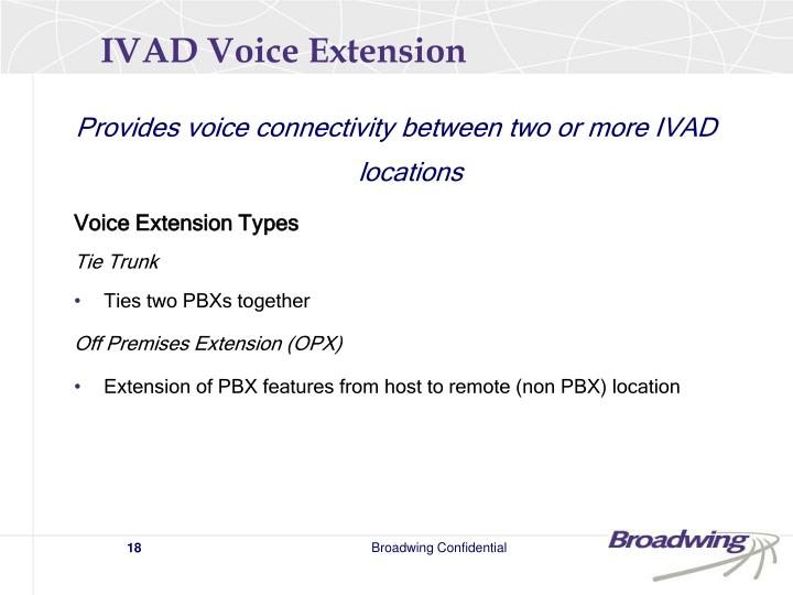 IVAD Voice Extension