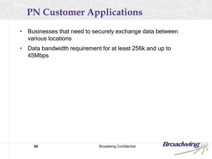PN Customer Applications