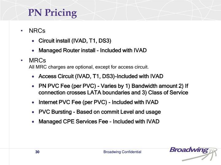 PN Pricing