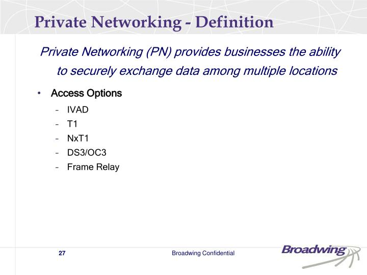 Private Networking - Definition
