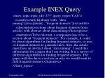 example inex query