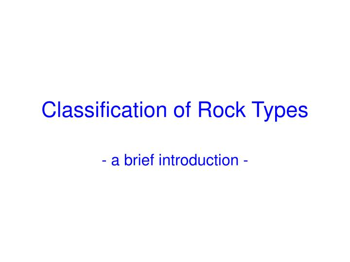 classification of rock types n.