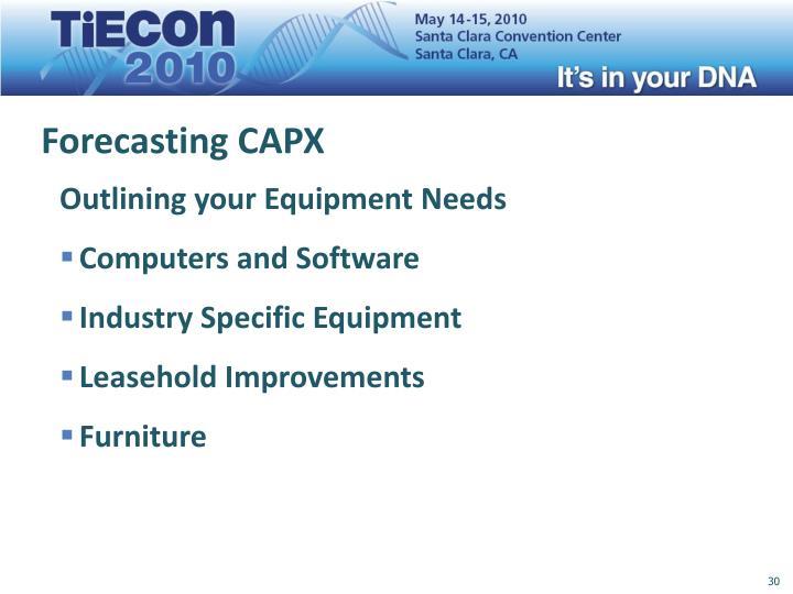 Forecasting CAPX