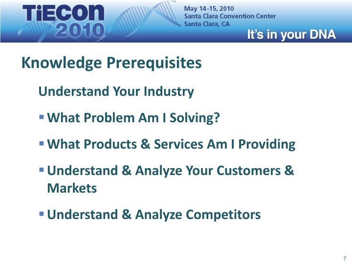 Knowledge Prerequisites