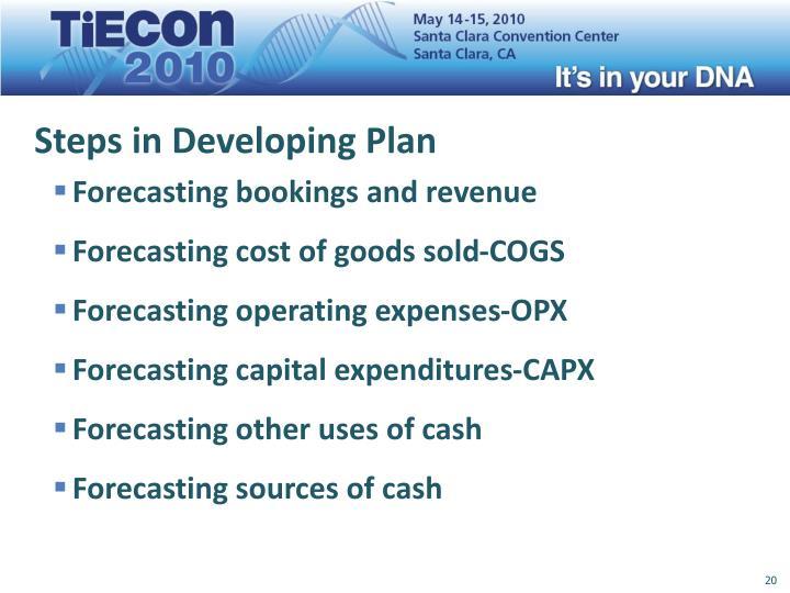 Steps in Developing Plan