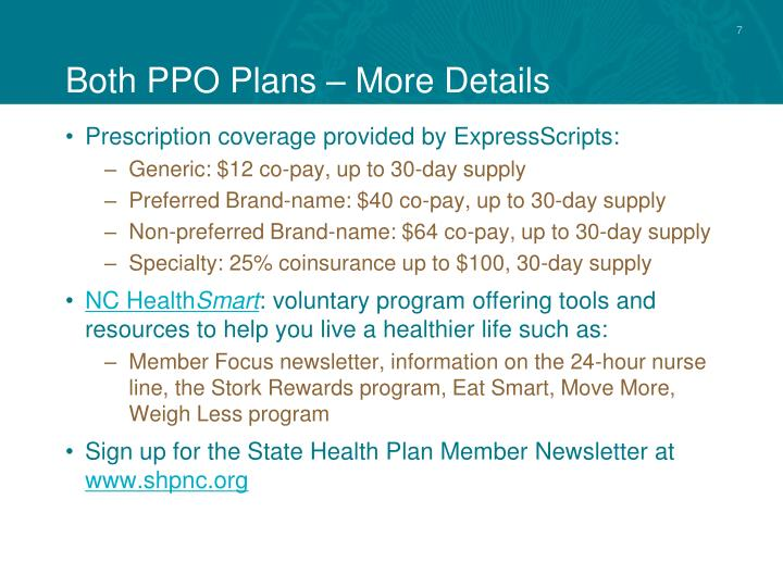 Both PPO Plans – More Details