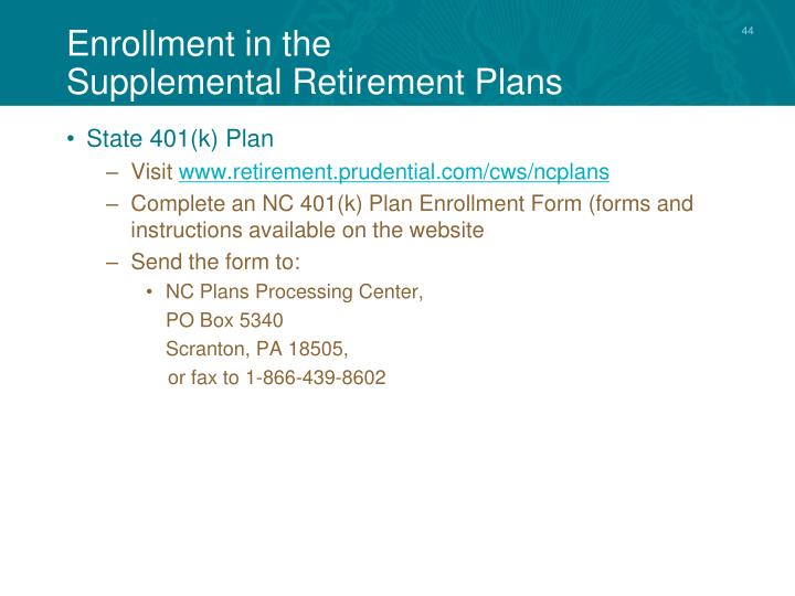 Enrollment in the