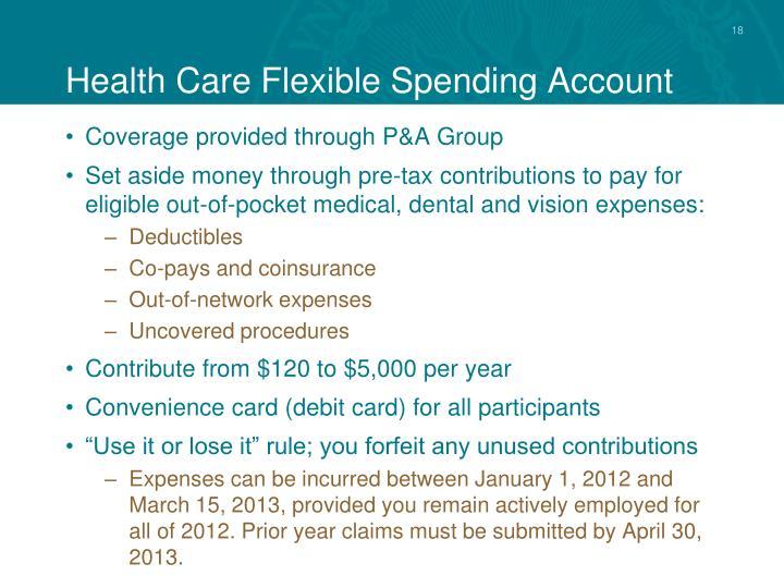 Health Care Flexible Spending Account