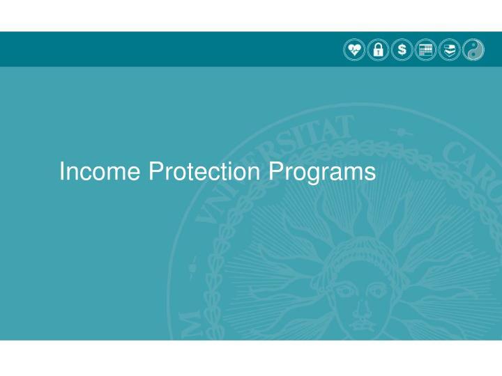 Income Protection Programs