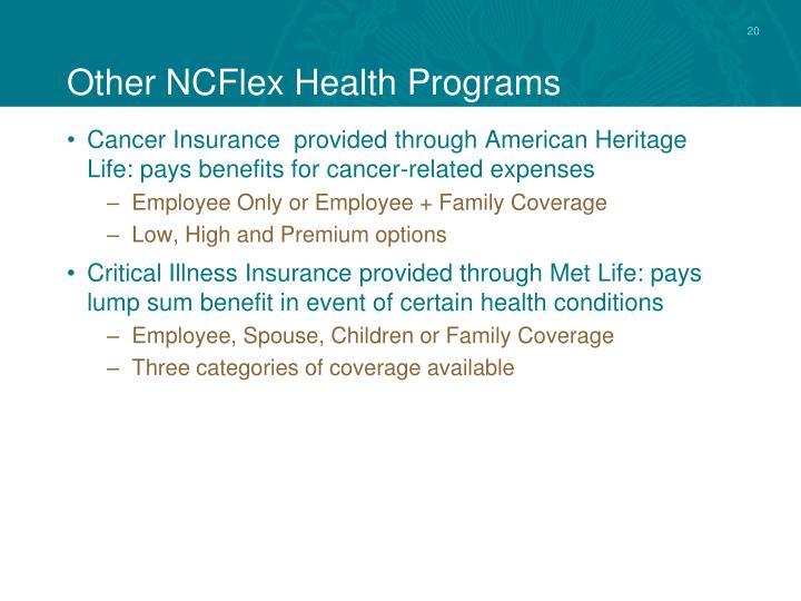 Other NCFlex Health Programs