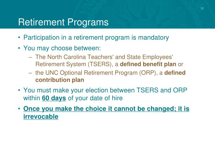 Retirement Programs