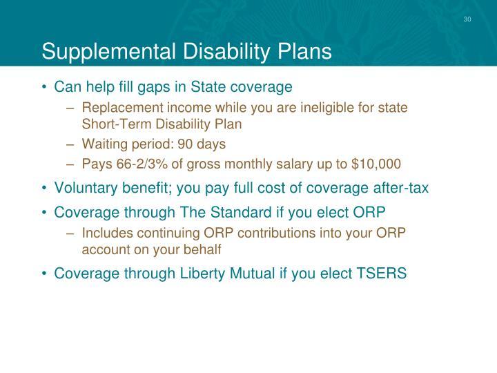 Supplemental Disability Plans