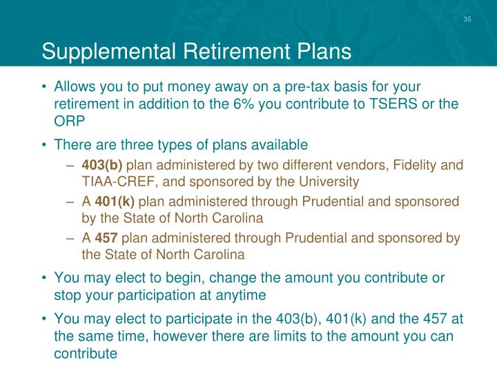 Supplemental Retirement Plans