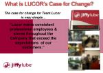 what is lucor s case for change