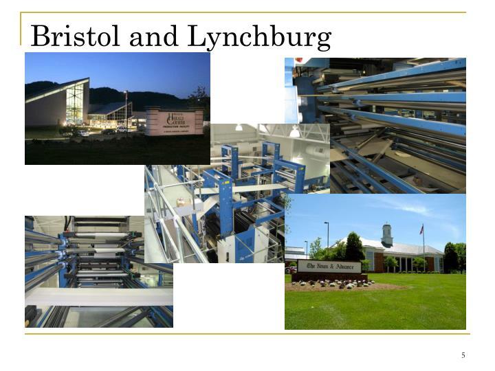Bristol and Lynchburg