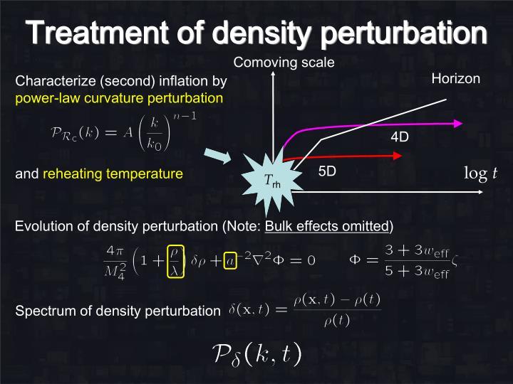 Treatment of density perturbation