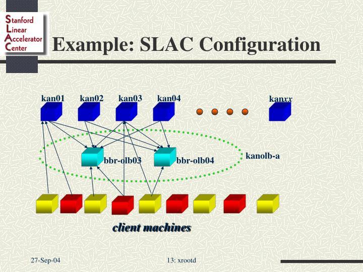 Example: SLAC Configuration