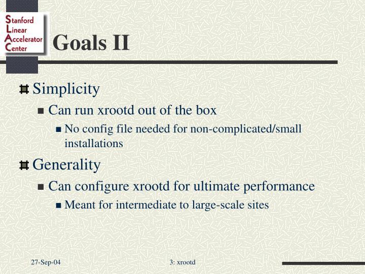Goals ii