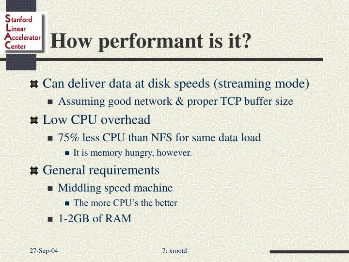 How performant is it?