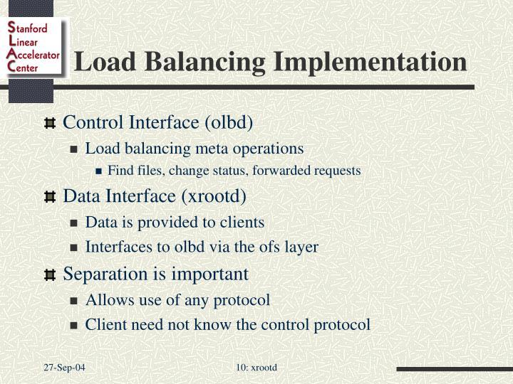 Load Balancing Implementation