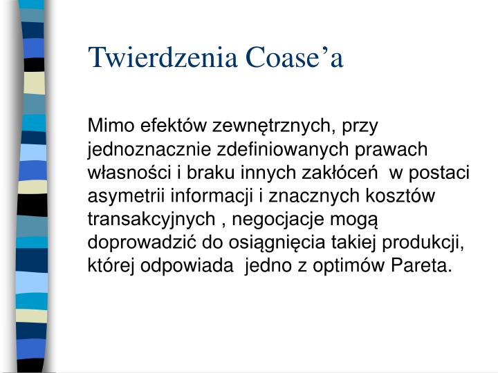 Twierdzenia Coase'a