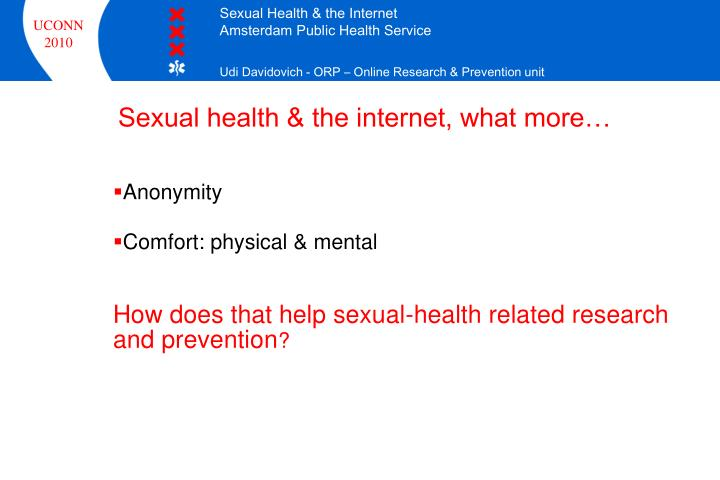 Sexual health & the internet, what more…