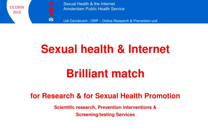 Sexual health & Internet