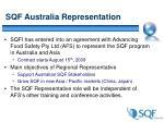 sqf australia representation