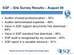 sqf site survey results august 09