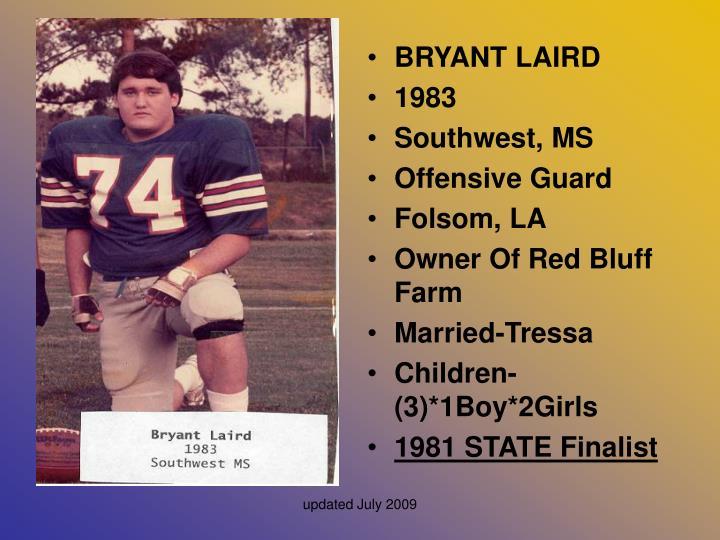 BRYANT LAIRD