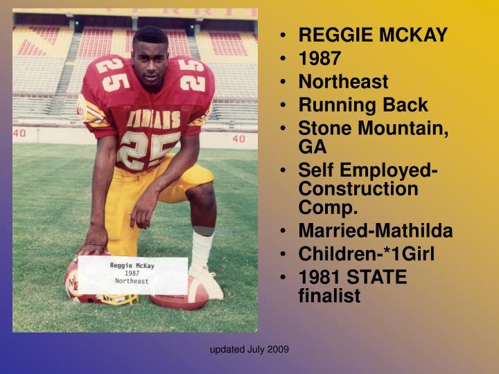 REGGIE MCKAY