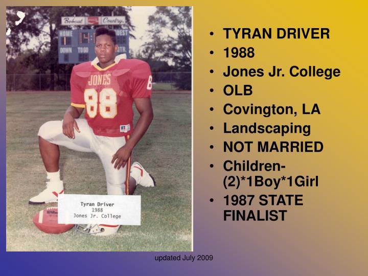 TYRAN DRIVER