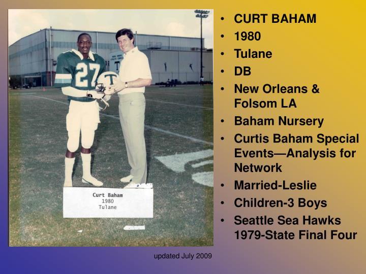 CURT BAHAM