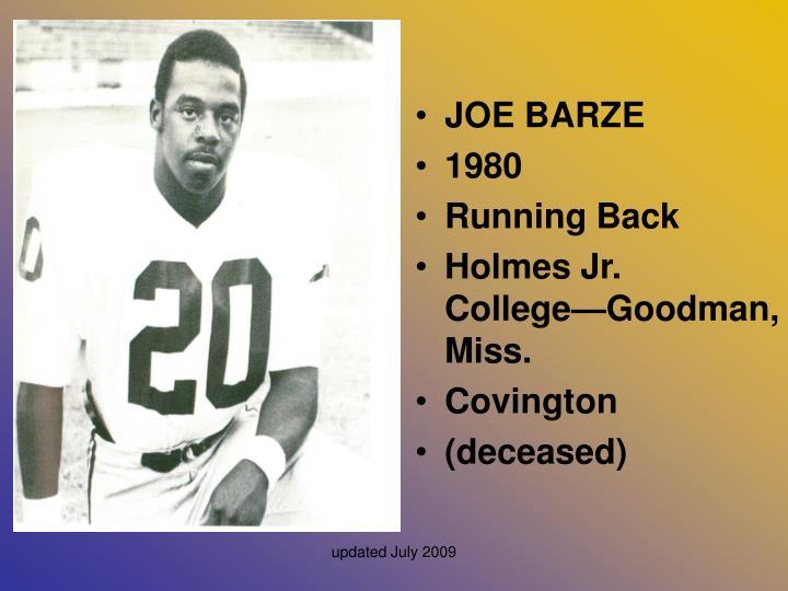 JOE BARZE