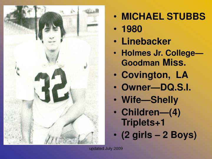 MICHAEL STUBBS