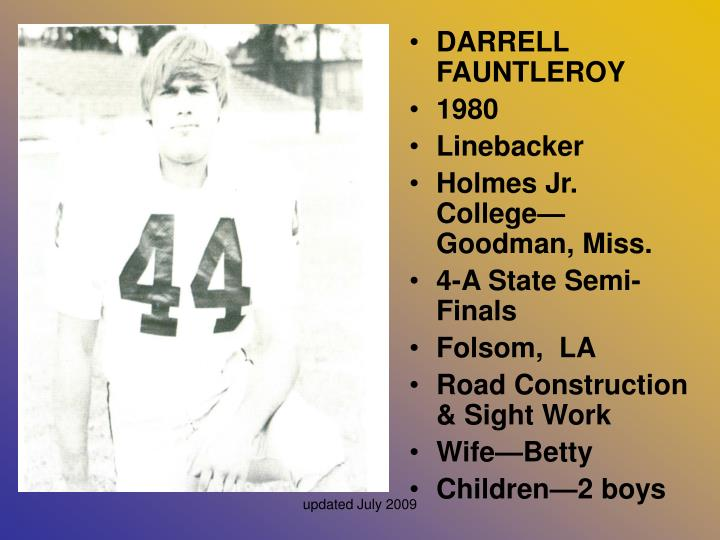 DARRELL FAUNTLEROY